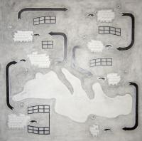lead mine on paper, 200 x 200 cm