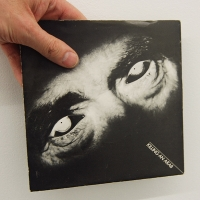 First edition of Killing an Arab (first single by The Cure) edited in December 1978. Scratched by the artist alludes to the Syrian conflict and its many victims.